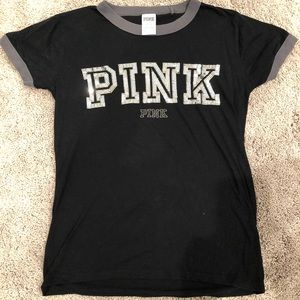 PINK S/S Bling Tee (Size XS)